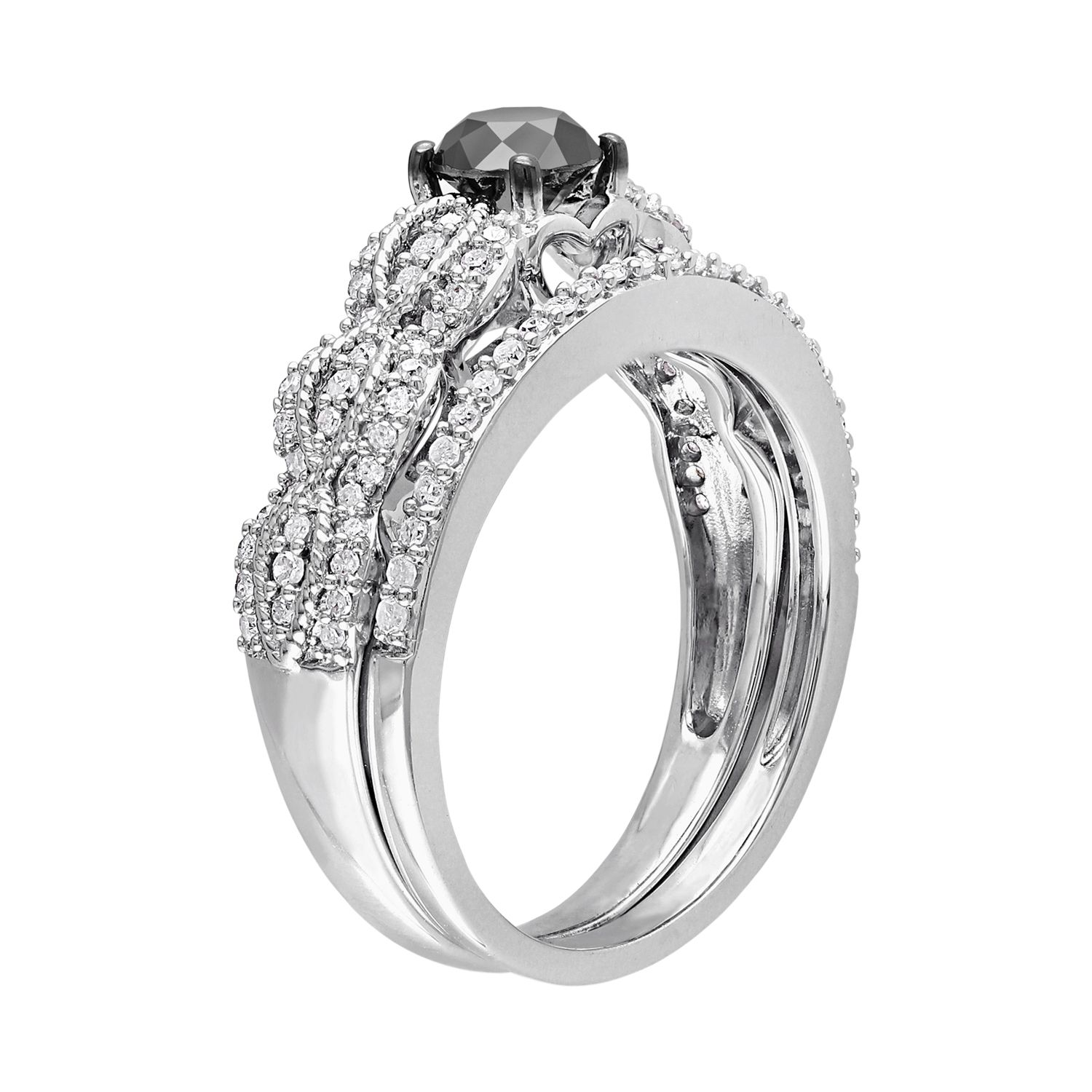 Sterling Silver Diamond Bridal Sets Rings Jewelry
