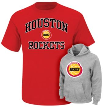 Boys 4-7 Majestic Houston Rockets Hoodie & Tee Set