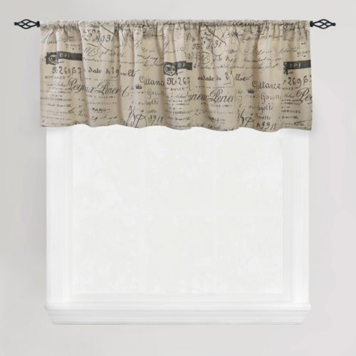 "Park B. Smith Script Straight Valance – 60"" x 14"""