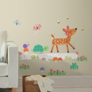 Woodland Baby Animal Log Peel and Stick Wall Decals
