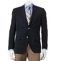 Men's Savile Row Modern-Fit Navy Knit Travel Blazer