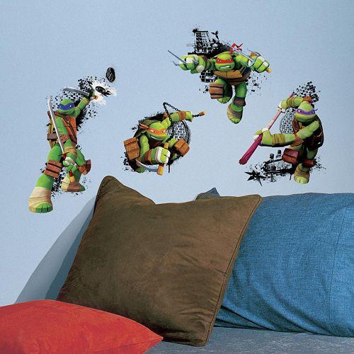 Teenage Mutant Ninja Turtles in Action Peel & Stick Giant Wall Decals