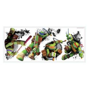 Teenage Mutant Ninja Turtles in Action Peel and Stick Giant Wall Decals
