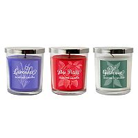 LumaBase 3 pc Floral Collection 18-oz. Jar Candle Set