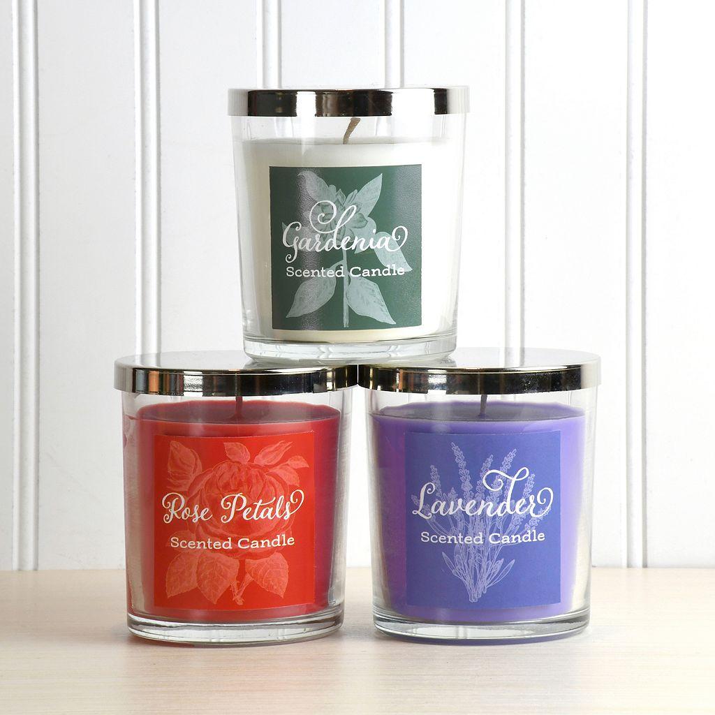 LumaBase 3-piece Floral Collection 18-oz. Jar Candle Set