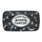 """""""Every Day Should Be Gameday"""" 14-in. Rectangular Melamine Football Serving Tray"""