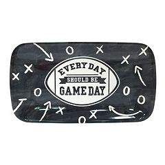 'Every Day Should Be Gameday' 14-in. Rectangular Melamine Football Serving Tray