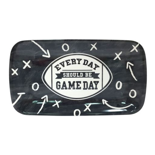 """Every Day Should Be Gameday"" 14-in. Rectangular Melamine Football Serving Tray"