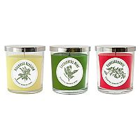 LumaBase Floral Collection 3-oz. Jar Candle 6-piece Set