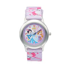 Disney Princess Kids' Cinderella, Snow White & Rapunzel Time Teacher Watch