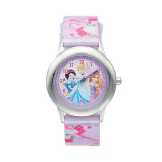Disney Princess Kids' Cinderella, Snow White & Rapunzel Time Teacher Watch