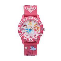 Disney Princess Kids' Cinderella, Snow White & Aurora Time Teacher Watch
