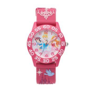 Disney Princess Kids' Cinderella, Snow White & Aurora Time Teacher Watch