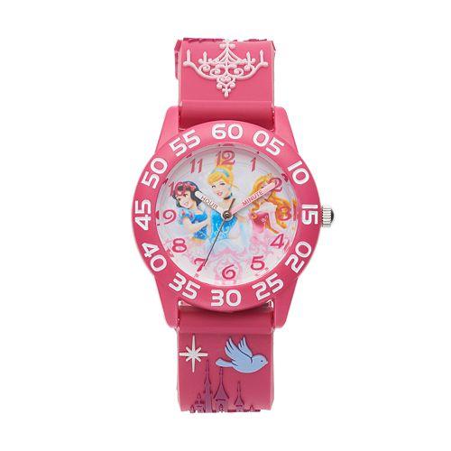 Disney Princess Kids' Cinderella, Snow White & Aurora Time Teacher Watch pantip