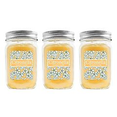LumaBase 3-piece Citronella 12-oz. Mason Jar Candle Set