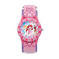 Disney Princess Kids' Ariel, Cinderella & Tiana Time Teacher Watch