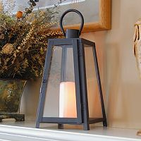 LumaBase 2-piece Tapered Metal Lantern & LED Candle Set