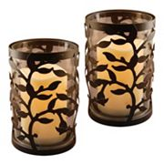LumaBase 2 pc Vine Lantern & LED Candle Set