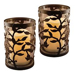 LumaBase 2-piece Vine Lantern & LED Candle Set