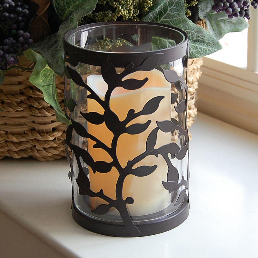 LumaBase 2-piece Vine Lantern and LED Candle Set