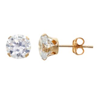 Taylor Grace Cubic Zirconia 10k Gold Stud Earrings