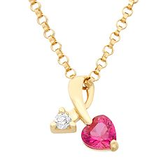 Junior Jewels Cubic Zirconia 14k Gold Heart & Arrow Pendant Necklace