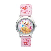 Disney Princess Kids' Cinderella, Belle & Aurora Time Teacher Watch