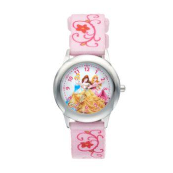 Disney Princess Kids' Cinderella, Belle & Aurora Time Teacher Watch