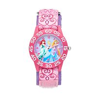 Disney Princess Kids' Cinderella, Ariel & Rapunzel Time Teacher Watch