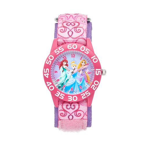 Disney Princess Kids' Cinderella, Ariel & Rapunzel Time Teacher Watch
