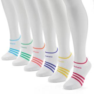 adidas 6-pk.  Striped climalite No-Show Socks - Women