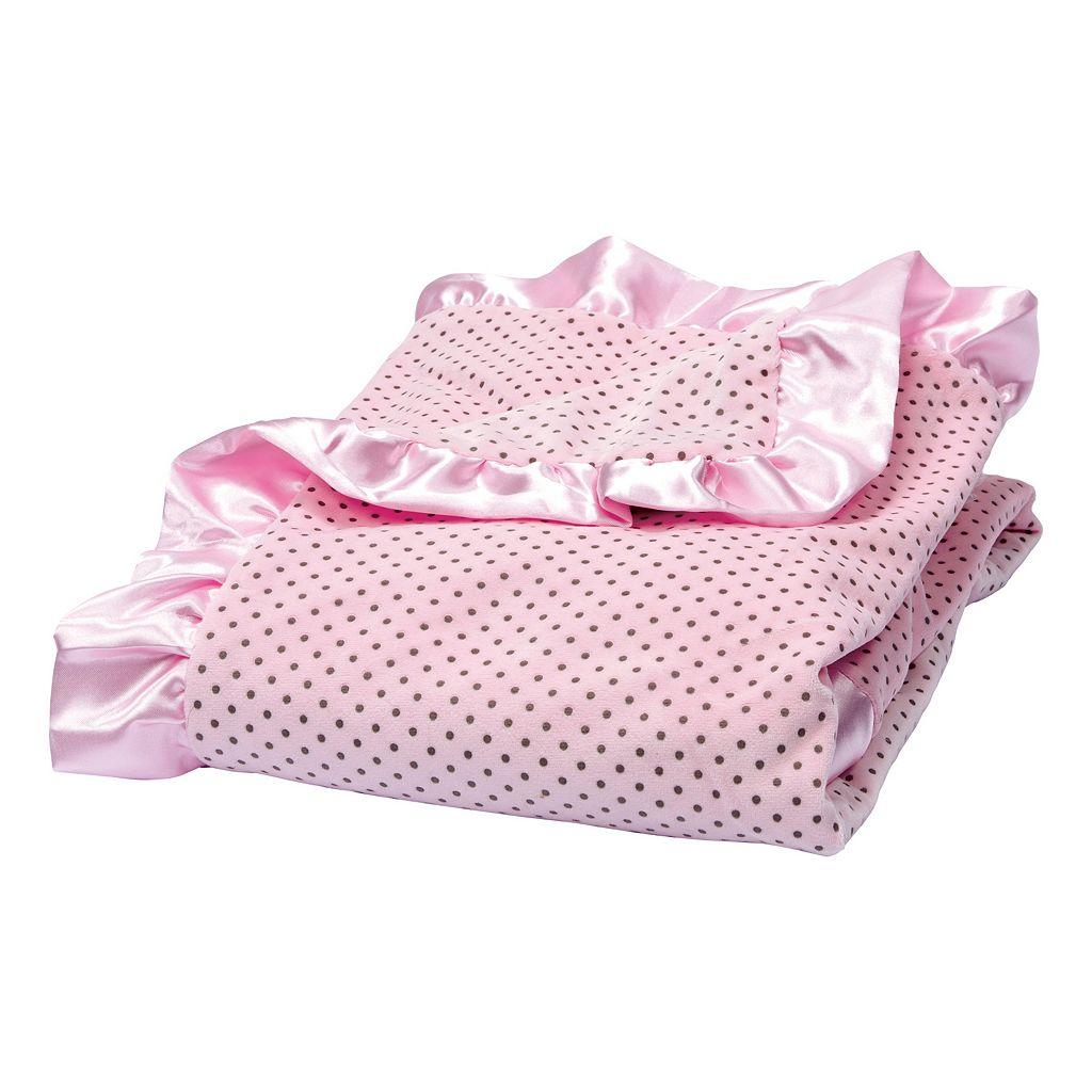 Trend Lab Dot Ruffle Receiving Blanket