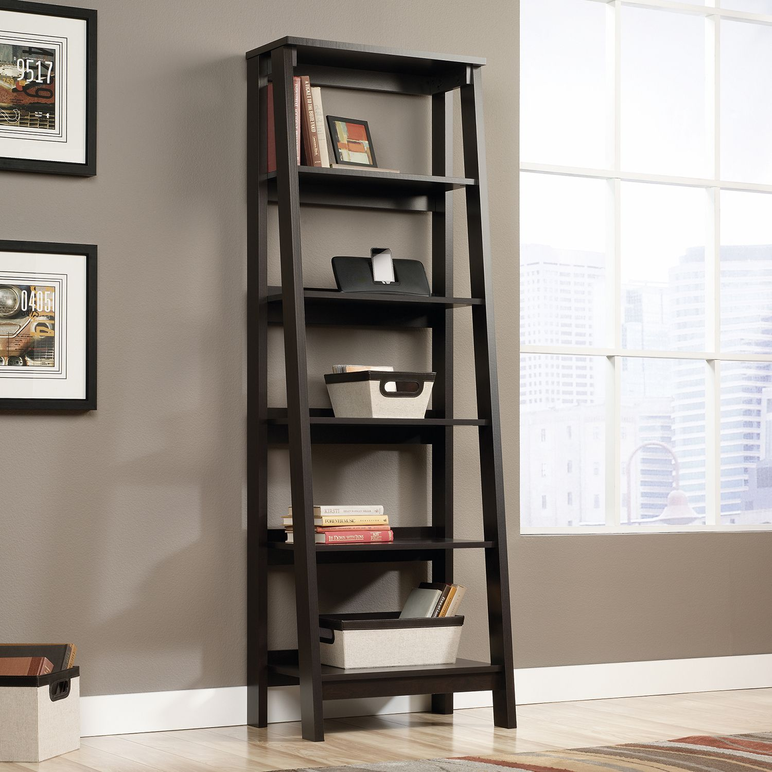 Sauder Trestle 5 Shelf Bookcase