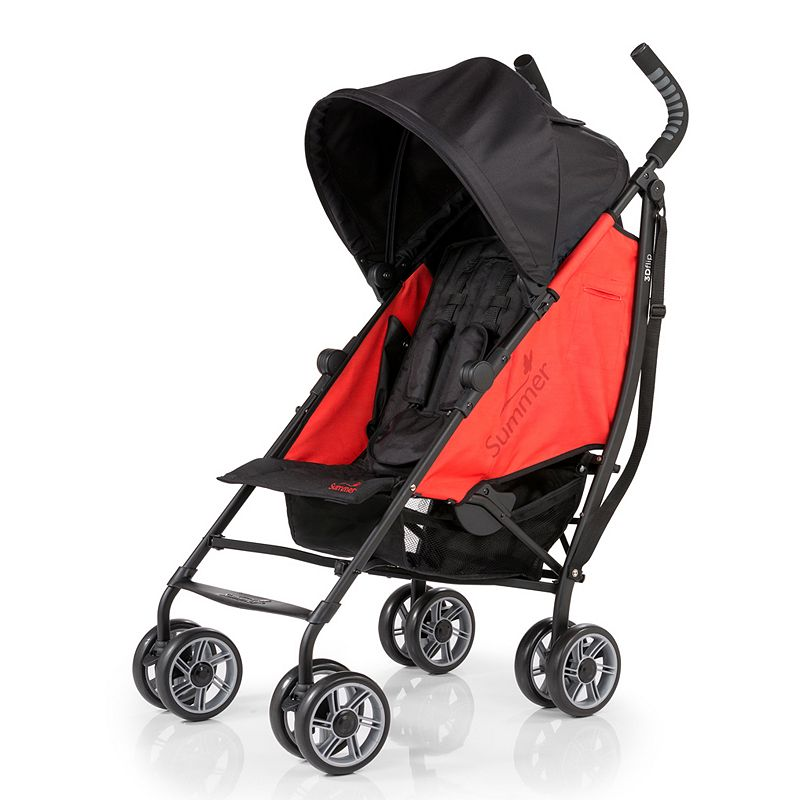 Summer Infant 3D Flip Convenience Stroller, Red