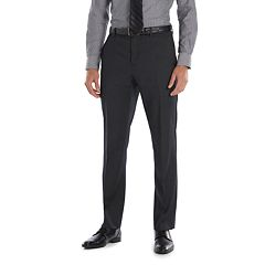 Men's Marc Anthony Slim-Fit Wool Black Flat-Front Suit Pants