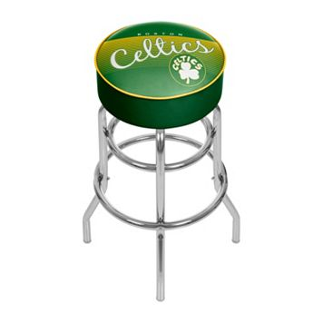 Boston Celtics Hardwood Classics Padded Swivel Bar Stool