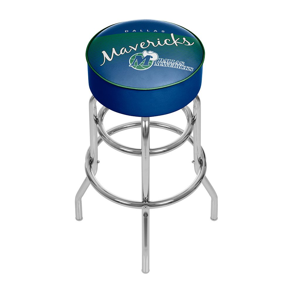 Dallas Mavericks Hardwood Classics Padded Swivel Bar Stool