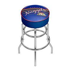 Denver Nuggets Hardwood Classics Padded Swivel Bar Stool