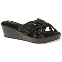 Soft Style by Hush Puppies Jerilyn Women's Macrame Wedge Sandals