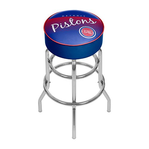 Detroit Pistons Hardwood Classics Padded Swivel Bar Stool