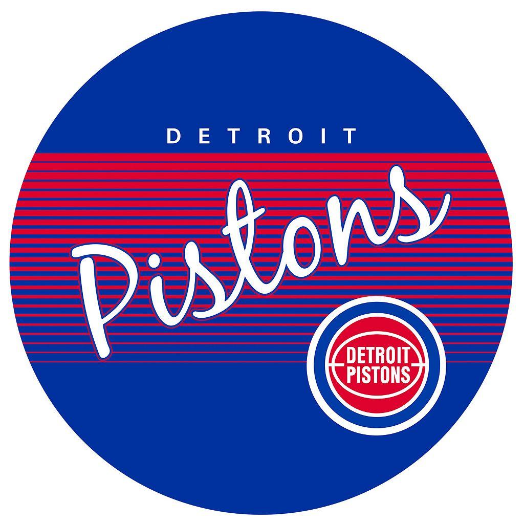 Detroit Pistons Hardwood Classics Padded Swivel Bar Stool