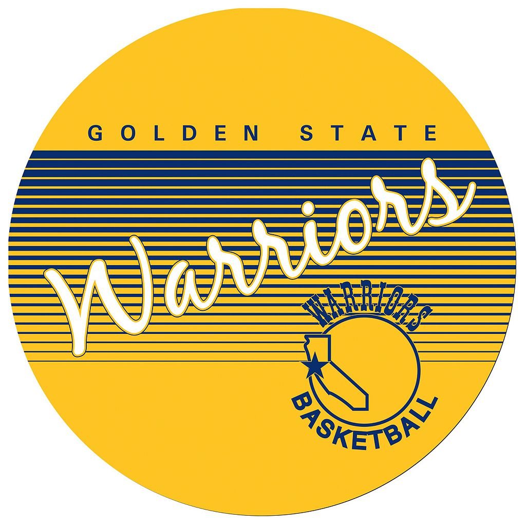 Golden State Warriors Hardwood Classics Padded Swivel Bar Stool