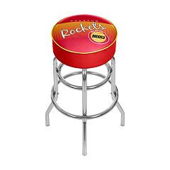 Houston Rockets Hardwood Classics Padded Swivel Bar Stool