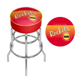 Houston Rockets Hardwood Classics Padded Swivel Bar Stool