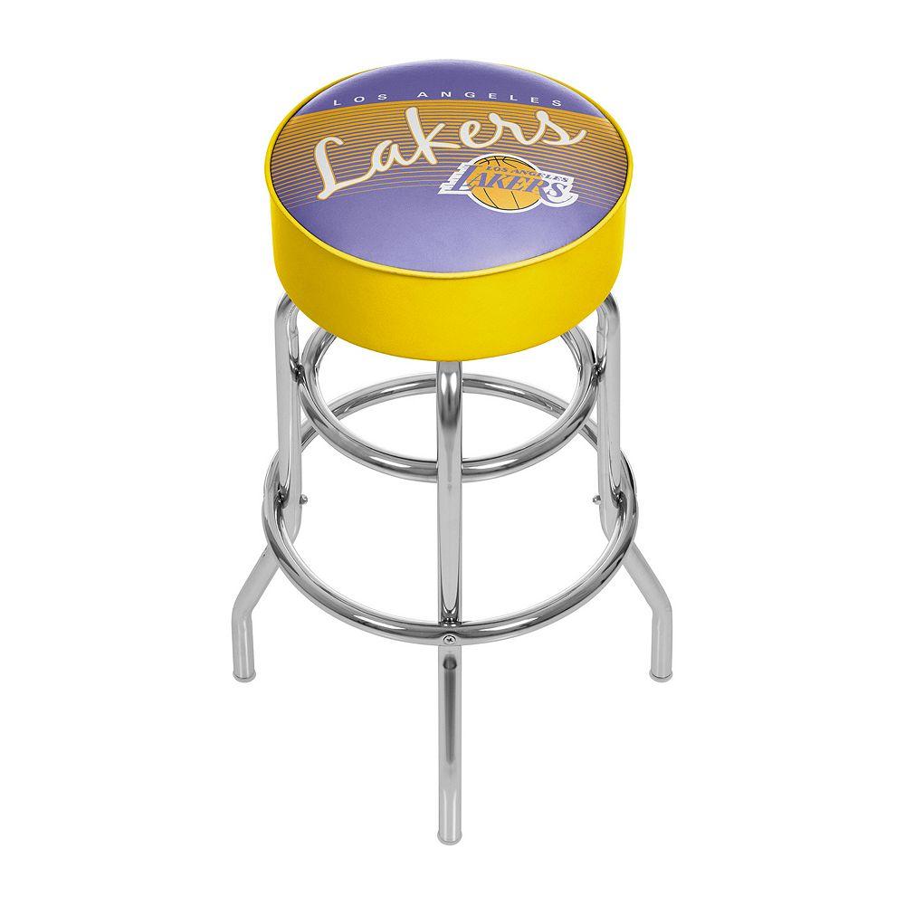Los Angeles Lakers Hardwood Classics Padded Swivel Bar Stool