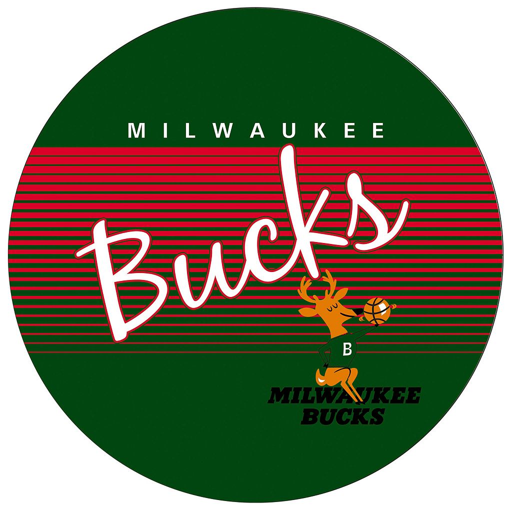 Milwaukee Bucks Hardwood Classics Padded Swivel Bar Stool