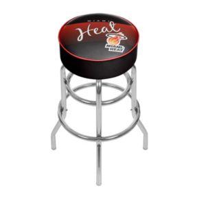 Miami Heat Hardwood Classics Padded Swivel Bar Stool