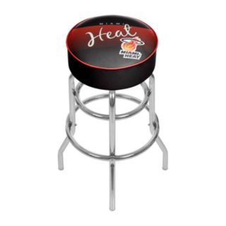 Miami Heat Hardwood Classics Padded Swivel Bar Stool