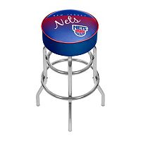 New Jersey Nets Hardwood Classics Padded Swivel Bar Stool