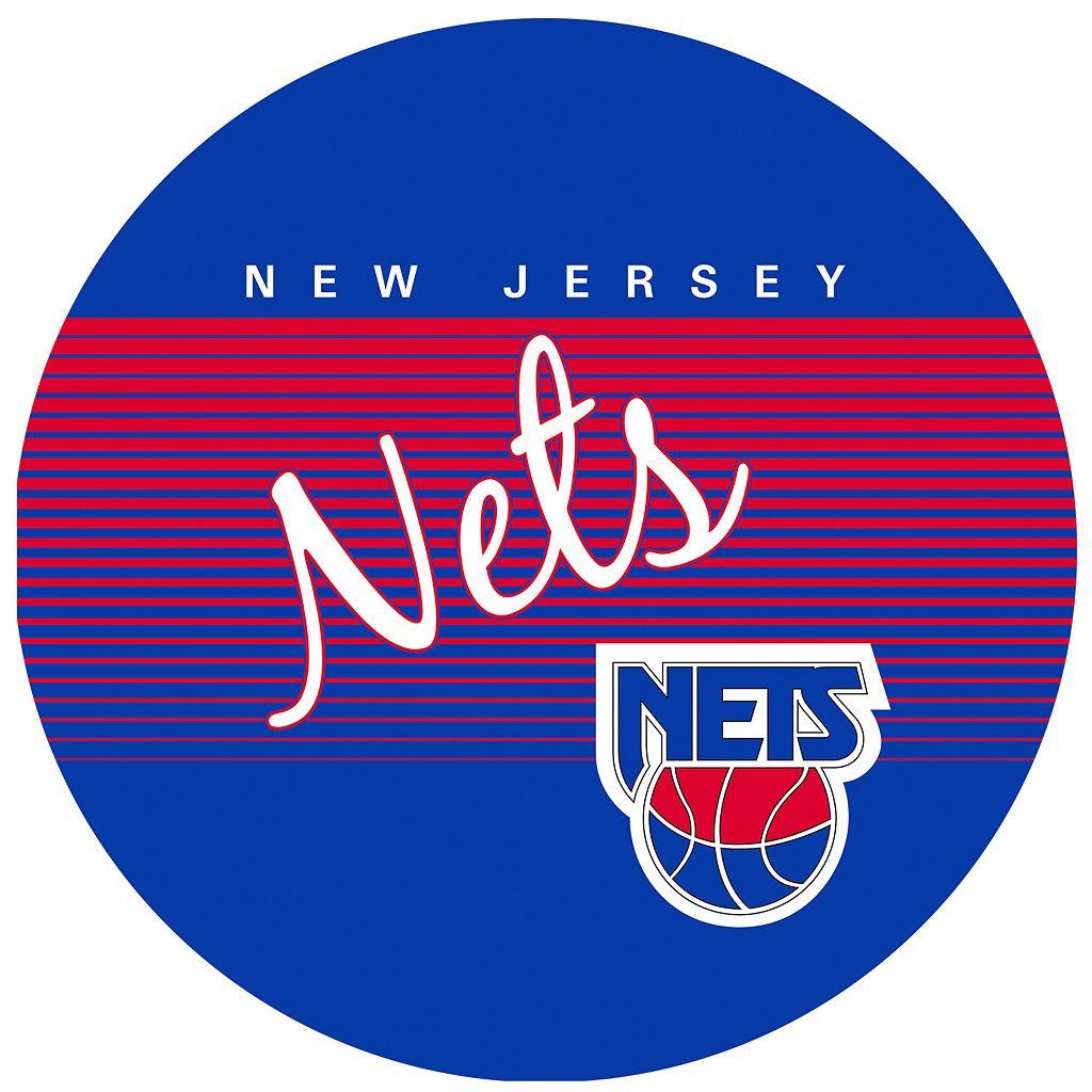 New Jersey Nets Hardwood Classics Padded Swivel Bar Stool